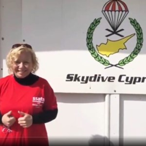 SSAFA Volunteer takes on Sky Dive in aid of Armed Forces community